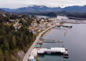The city of Hoonah on May 2, 2019 (Photo by David Purdy/KTOO)